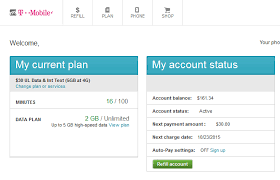 prepaid account t mobile prepaid account on the 5gb 30 plan with 161 balance for