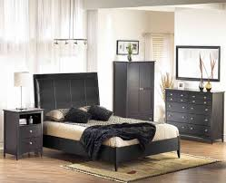 bedroom black and white grey high gloss furniture interior green