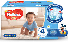 huggies gold huggies gold boy size 4 120 nappies buy online in south
