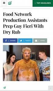 Guy Fieri Meme - dopl3r com memes top headlines food network production
