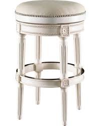 bargains on celia backless counter stool vintage white finish