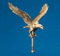 outdoor eagle ornaments gold