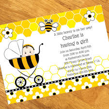 bee baby shower bumble bee baby shower personalized invitation