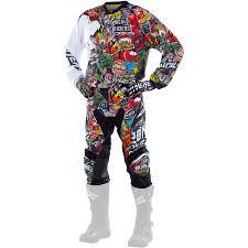 motocross gear oneal new 2017 mx gear mayhem crank dirt bike black red multi