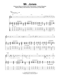 mr jones by counting crows guitar tab play along guitar