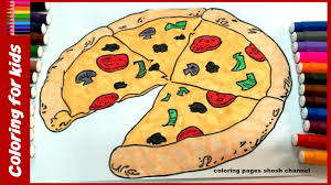 pizza coloring pages for kids 2017 fast food coloring learn