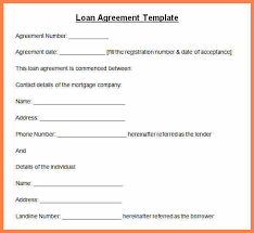 personal loan agreement form free blank personal loan forms