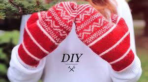 sweater mittens diy winter mittens from sweater upcycle