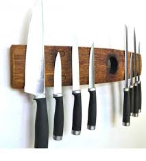 kitchen knives holder premium barrel stave with bung magnetic knife holder rustic