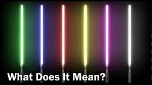 what do the lightsaber colors mean star wars analyzed youtube