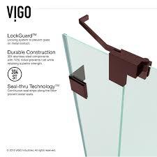 vigo vg6042 pirouette 66 frameless shower door homeclick com