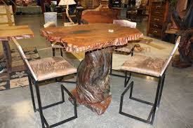 rustic high top table in stock and for sale littlebranch farm rustic log furniture