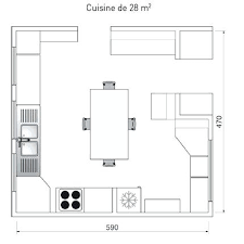 plan cuisine l amenagement cuisine 15m2 cethosia me