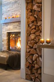 the shabby nest perfect for autumn stacked wood in decor