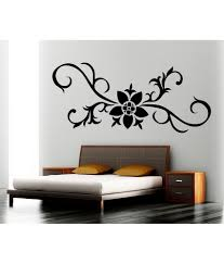 69 off on decor kafe floral wall decal on snapdeal
