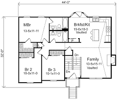 split level floor plan cozy split level home plan 22003sl 1st floor master suite cad