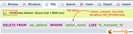 Delete From Table Sql Woocommerce Adds Thousands Of Transient Entries Into Wp Options