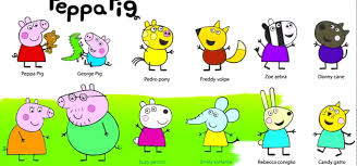 baby coloring peppa pig friends for kids coloring peppa pig