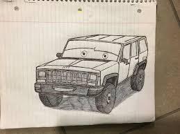 cartoon jeep cherokee me in jeep cherokee by bustrucklover on deviantart