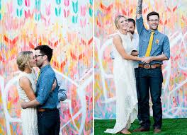 wedding backdrop trends free spirited graffiti artist wedding kristen dusty green