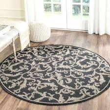 Circle Area Rug Circle Area Rug Courtyard Black Sand 7 Ft In X 7 Ft In Quarter
