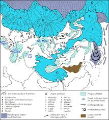 North European Plain Map by Ice Age Maps Showing The Extent Of The Ice Sheets