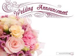 wedding announcement service background for church services wedding announcement