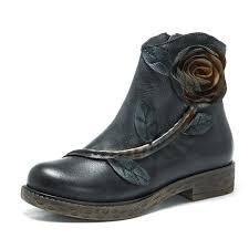 handmade womens boots uk designer socofy sooo comfy vintage handmade ankle leather