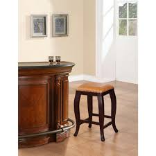 Linon Home Decor Bar Stools Linon Home Decor Townsend Adjustable Height Dark Brown Cushioned