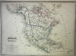 Map Of Usa In 1861 by Malte Brun Map Of North America 1861