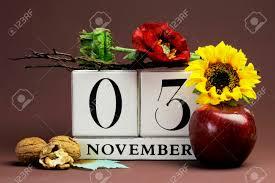 november seasonal flowers save the date seasonal individual calendar for november 3 with