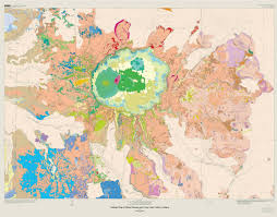 Crater Lake Oregon Map by Large Scale Folding And Faulting Exposed In A Mountainside