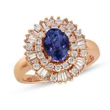 rose gold amethyst diamond ring 14k rose gold round i2 i3 diamond u0026 tanzanite ring 3 4 ctw