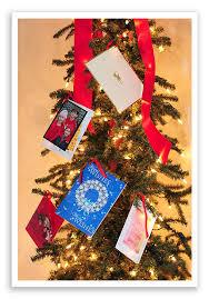 a christmas card display tree