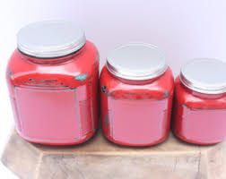 distressed canisters etsy