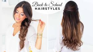 easy hairstyles for school with pictures hairstyles for school medium hairstyle school girl quick and easy