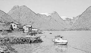 fjord in norway sketch by awesome sketches on deviantart