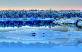 blue reflections wallpapers frozen river reflections wallpapers frozen river reflections