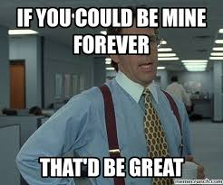Mine Meme - you could be mine forever