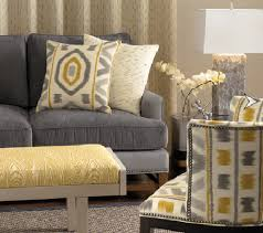 Gray And Yellow Chair Design Ideas Grey And Yellowliving Rooms Kravet Ikat Yellow Grey