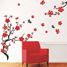 Red Poppy Flowers Removable Transparent Wall Art Decal Stickers - Poppy wallpaper home interior