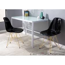 contemporary desk lumisource pia contemporary desk in white metal with glass top