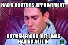 Doctor Appointment Meme - meme creator crying joey essex meme generator at memecreator org