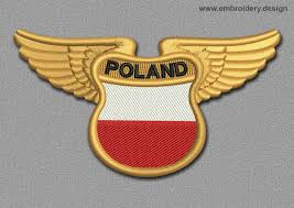 flags patch winged flag of poland