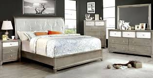 Ottawa Bedroom Set With Mirror Bryant Silver Crocodile Leatherette Bedroom Set From Furniture Of