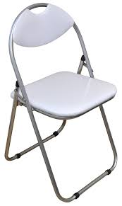 Desk Chair White by Padded Folding Chair White