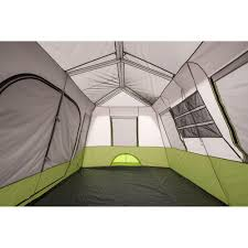 ozark trail 9 person instant cabin tent with 2 bonus queen airbeds