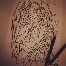 angel tattoo drawings pictures to pin on pinterest tattooskid