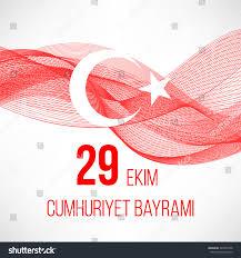 29 Star Flag Republic Day Turkey Cumhuriyet Concept Background Stock Vector