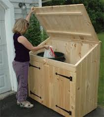 a great place to store your garbage and recycling bins without